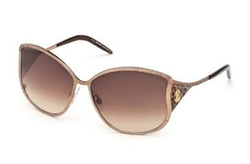 Roberto Cavalli RC671S Sunglasses - Shiny Light Brown Frame Color, Gradient Brown Lens Color