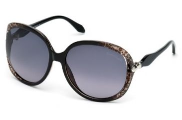 Roberto Cavalli RC732S Sunglasses - Black Frame Color, Gradient Smoke Lens Color