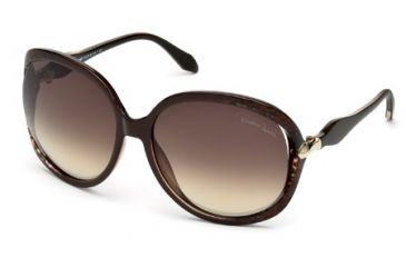 Roberto Cavalli RC732S Sunglasses - Dark Brown / Black Frame Color, Brown Mirror Lens Color