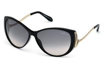 Roberto Cavalli RC741T Sunglasses - Shiny Black Frame Color, Gradient Smoke Lens Color