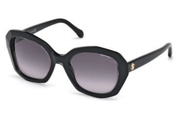 Roberto Cavalli RC797S Sunglasses - Black/Crystal Frame Color, Gradient Smoke Lens Color
