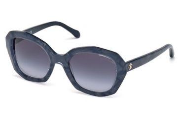 Roberto Cavalli RC797S Sunglasses - Blue Frame Color, Gradient Smoke Lens Color
