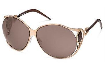 Roberto Cavalli Corniola Sunglasses Gold Frame, Gold Brown Lenses 28J