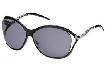Roberto Cavalli Pirite Sunglasses Black Frame, Smoke Lenses 01A