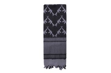 5-Rothco Crossed Rifles Shemagh Tactical Scarf
