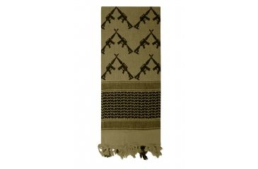 1-Rothco Crossed Rifles Shemagh Tactical Scarf