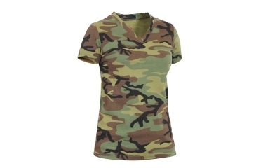 194639145c27 Rothco Womens Long Length Camo V-Neck T-Shirt | Up to 14% Off Free ...