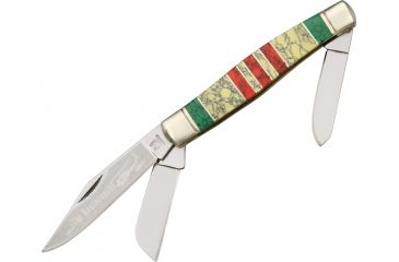Rough Rider Vietnam Large Fold Knife, Clip, spey and sheepsfoot blade RR1393