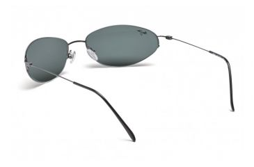 Maui Jim Runabout Sunglasses w/ Gunmetal Frame and Neutral Grey Lenses - 509-02, Back View