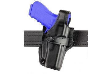 Safariland 070 Duty Holster, SSIII Mid-Ride, Level III Retention - Hi Gloss Black, Right Hand 070-40-91