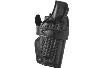 Safariland 070 LV3 Mid Ride Duty Holster, Basket Black, Right Hand - S&W 4006 w/Rails