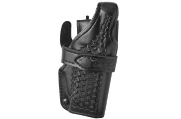 Safariland 070 LV3 Mid Ride Duty Holster, Basket Black, Right Hand - S&W M&P 4.5in