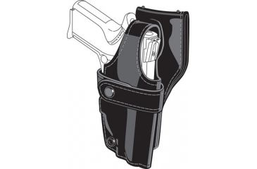 Safariland 0705 Duty Holster, SSIII Low-Ride, Level III Retention - Hi Gloss Black, Right Hand 0705-73-91