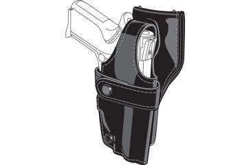 Safariland 0705 Duty Holster, SSIII Low-Ride, Level III Retention - Hi Gloss Black, Right Hand 0705-24-91