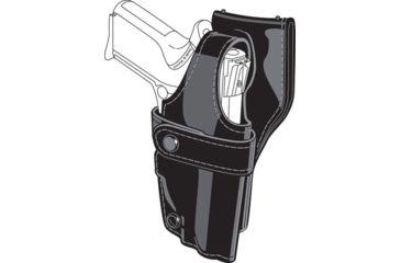 Safariland 0705 Duty Holster, SSIII Low-Ride, Level III Retention - Hi Gloss Black, Left Hand 0705-754-92