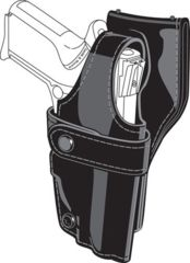 Safariland 0705 Duty Holster, SSIII Low-Ride, Level III Retention - Plain Black, Left Hand 0705-210-162