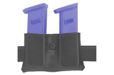 Safariland 079 Concealment Magazine Holder, Snap-On, Double - Plain Black, Ambidextrous, 2in. Belt Loop Slot 079-118-6-2