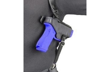 Safariland 1060 Shoulder Holster System - Plain Black, Left Hand 1060-320-1-22
