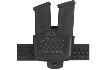 Safariland 177 Magazine Holder, Adjustable Belt Loop, Double - Basket Black, Left Hand 177-383-182-150