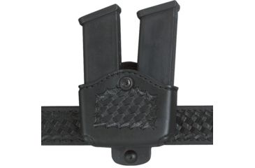 Safariland 177 Magazine Holder, Adjustable Belt Loop, Double - Basket Black, Right Hand 177-76-181-150