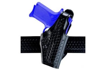 Safariland 2 ''Hi-Ride'', Level I Retention Holster - Basket Black, Left Hand 2-74-82-2R