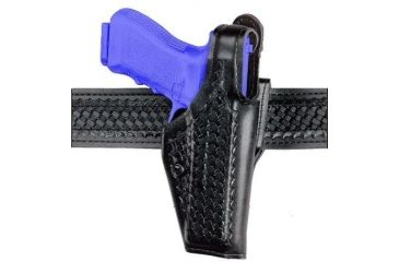 Safariland 200 ''Top Gun'' Mid-Ride, Level I Retention Holster - Plain Black, Left Hand 200-09-162