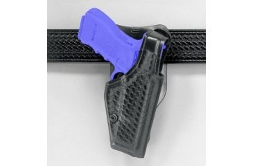 Safariland 2005 ''Top Gun'' Low-Ride, Level I Retention Holster - Hi Gloss Black, Left Hand 2005-82-92
