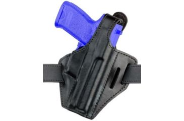 Safariland 328 Belt Holster, Pancake Style - Plain Black, Right Hand 328-77-61