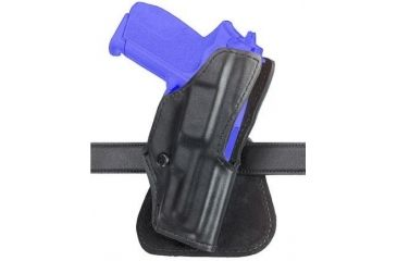 1-Safariland 5181 Open-Top Paddle Holster - Plain Black, Right Hand 5181-20-61