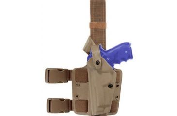 Safariland 6004 SLS Tactical Holster - STX FDE Brown, Left Hand 6004-7712-552