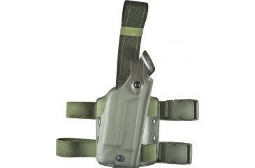 Safariland 6004 SLS Tactical Holster, OD Green, Right Hand - Glock 19 w/Light