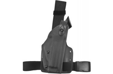Safariland 6004 SLS Tactical Holster, Right, STX Tactical Black Leg Shroud Single Strap, H&K USP45