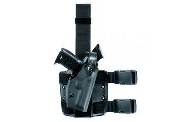 Safariland 6004 SLS Thigh Holster, STX Black, Right Hand - Colt 1991A1 & Similar