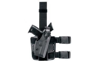 Safariland 6004 SLS Thigh Holster w/Sentry, STX Black, Right Hand - Colt 1991A1 & Similar