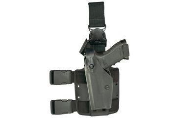 Safariland 6005 SLS Tactical Holster w/ Quick Release Leg Harness - Tactical Black, Left Hand 6005-1740-122