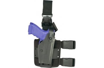 Safariland SLS Tactical Holster w/ Quick Release Leg Harness - STX Tactical Black, Left 6005-75-122