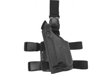 Safariland 6005 SLS Tactical Holster w/ Quick Release Leg Harness - STX Tactical Black, Left Hand 6005-260-122