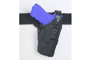 Safariland 6070 Raptor Level III, Mid-Ride UBL Holster - STX TAC Black, Left Hand 6070-73-132