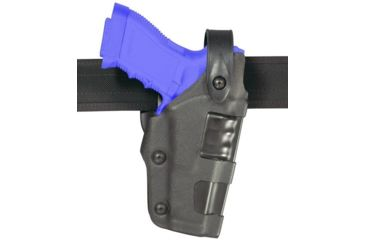 Safariland 6270 Raptor Level II Plus, Mid-Ride UBL Holster - Plain Black, Left Hand 6270-383-62
