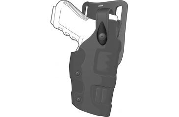 Safariland 6275 Raptor Level II Plus, Low-Ride UBL Holster - Plain Black, Left Hand 6275-93-62