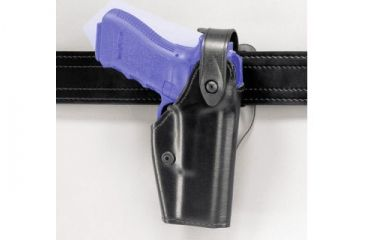 Safariland 6280 Level II Retention, Mid-Ride Holster - Hi Gloss Black, Right Hand