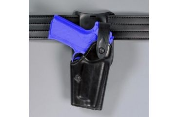 Safariland 6285 1.50'' Belt Drop, Level II Retention Holster - Hi Gloss Black, Left Hand 6285-173-92