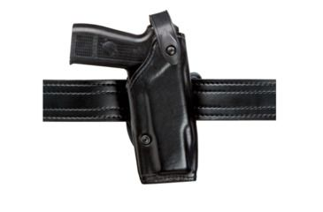 Safariland 6287 Concealment SLS Belt Holster - Plain Black, Right Hand, 1.5in.Belt Loop Slot w/ Cut Outs for 1.75in., 2in. and  2.25in. Belt Loop Slot w/ 1in. Drop 6287-283-61-DM