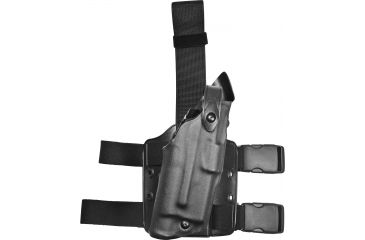 Safariland 6304 ALS Tactical Holster, STX Tactical Black, Right Hand - Glock 19/23 w/Light