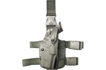 Safariland 6305 ALS Tactical Holster w/ Quick Release Leg Harness - OD Grn, Right Hand 6305-53-561