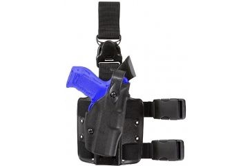 Safariland 6305 ALS Tactical Holster w/ Quick Release Leg Harness - STX TAC Black, Left Hand 6305-74-132