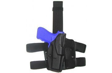 Safariland 6354 ALS Tactical Thigh Holster - STX Black, Left Hand 6354-83-132