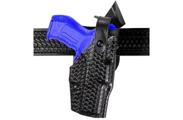 Safariland 6360 ALS Level II Plus w/ Ride UBL Holster - Plain Black, Left Hand 6360-180-62