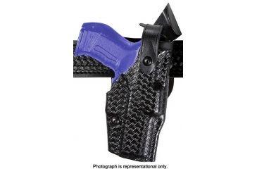 Safariland 6360 ALS LV3 Ride UBL Holster, Right, STX Basket, Sentry - Glock 17w/Light