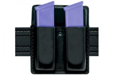 Safariland 75 Double Mag Pouch Without Flaps - STX Hi-Gloss Black, Ambidextrous